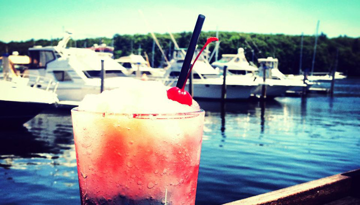 Enjoy a Frozen Drink On BLU On The Water's Outdoor Deck