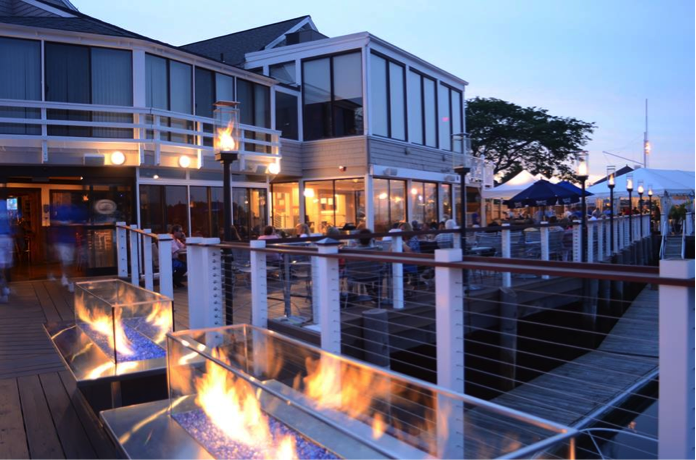 Waterfront Dining At BLU On The Water In East Greenwich Rhode Island.